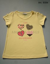 Remera niña M/C. Estampa Just daydreamer. Colores surtidos. Gruny.