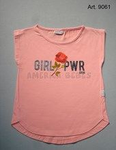 Remera niña M/C. Estampa Girl Power. Colores surtidos. Gruny.