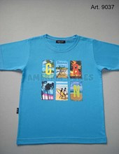 Remera niño M/C. Estampa Surf. Colores surtidos. Gruny.