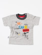 Remera bebe M/C jersey estampa Ice We Can Be Cool. Colores surtidos. Pat-us.
