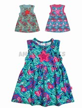 Vestido beba S/M STAR. T6-9: 9 / T9-12: 12 / T12-18: 18 / T18-24: 24 / T24-36:36.  Colores surtidos. Yaby.