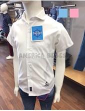 Camisa nene M/C bordado ancla super elastizada. Colores surtidos. Popeye Kids.