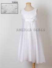 Vestido comunion S/M  con Torerita .Faja de perlas y pechera. Children Dior.