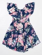 Vestido nena estampado flores. Colores surtidos. Sol de chicos.