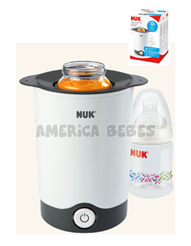 Calentador para mamaderas Thermo Express.De temperatura ambiente a la temperatura de bebida -120 ml de fluido calentado en una botella de 240 ml. Nuk.