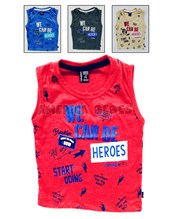 Musculosa bebe jersey melange color. We can be Héroes. Colores surtidos. Compacto.
