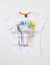 Remera nene M/C estampa Surfers. Colores surtidos. Bway.