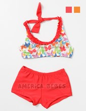 Short c/top mariposas con frunce. Colores surtidos. Gadi Mallas.