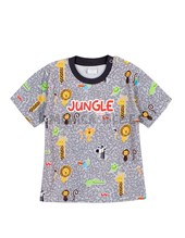 Remera bebe M/C estampa jungle. Colores surtidos. Gepetto.