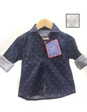 Camisa bebes M/L Elastizada con Lunares y cinta. Colores surtidos. Popeye Kids.
