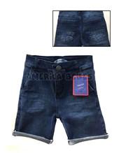 Bermuda niño Jean Oscura con recortes en bolsillos. Popeye Kids.