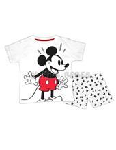 Conjunto bebe Remera M/C Estampa Mickey con pantalon rotativo. Colores surtidos. Disney Licencia.