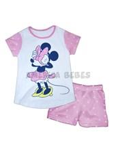 Conjunto nena Remera M/C Estampa Minnie con pantalon rotativo. Colores surtidos. Disney Licencia.