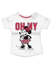 Remera nena M/C estampa Minnie. Colores surtidos. Disney Licencia.