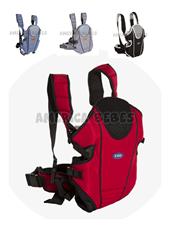 Mochila portabebé By Bag Deluxe. 3 Posiciones. Faja lumbar. 3.5 Kg. a 12 Kg. Colores surtidos. Kiddy.