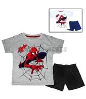 Conjunto nene Remera M/C jersey estampado con pantalón rotativo.Spiderman. Colore surtidos.Disney Licencia.