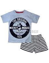 Conjunto nene Remera M/C jersey estampado con pantalón rotativo. Mickey. Disney Licencia.