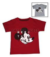 Remera bebe M/C estampa Mickey.  Colores surtidos. Disney Licencia.
