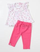 Conjunto beba blusa estampada cerezas y pantalon. Colores surtidos. Baby Skin.