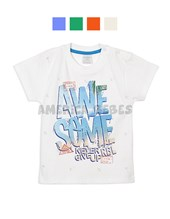 Remera bebe M/C estampa Awesome. Colores surtidos. Ruabel.