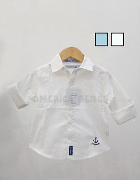 Camisa bebe M/L elastizada con bordado. Colores surtidos. Popeye Kids.