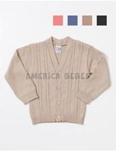 Cardigans c/ torzadas color. 00 al 2 BB-T4 Niño. Ceo