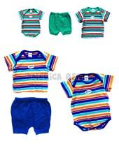 Pack 3 piezas (18k8)Rayado tejido multicolor. Colores surtidos. Solcito.