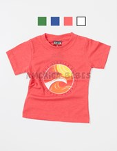 Remera Bebe M/C estampa Waves. Colores surtidos. Flirty.