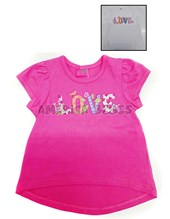 REMERA NENA M/C. ESTAMPA LOVE. COLORES SURTIDOS. BWAY