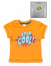 Remera M/C Bebe estampa STAY COOL. Colores surtidos.BWay.
