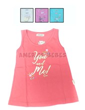 Remera musculosa S/M nena. You and me. Colores surtidos. Gruny.