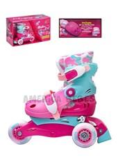 Roller convertible a patin en linea. Con protecciones. Roller 2 en 1. Talles SS:( 27 AL 30) S:(31 AL 34). Jem.