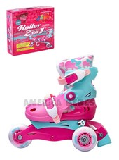 Roller convertible a patin en linea. Roller 2 en 1. Talles SS:( 27 AL 30) S:(31 AL 34). Jem.