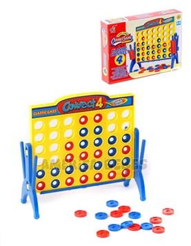Juego de mesa 4 en Linea. Para 2 jugadores. Edad + 3 años. Presentacion en caja. Jem.