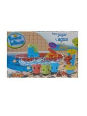 Set Primera Infancia para jugar en el baño o la playa. Incluye Barco, baldes didacticos y molino. Duravit.