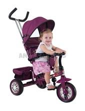 Triciclo Confort con butaca giratoria en  360º  y 3 puntos de inclinación. Color Violeta. Biemme.