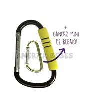 Gancho metalico portaobjetos para cochecito,  es universal se adapta a todos los modelos. Incluye gancho Mini de regalo. Priori.