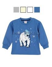 Remera varón con estampa oso polar con relieve. Colores surtidos. Ruabel.