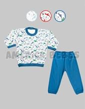Pijama niño M/L. Estampa dinos. Colores surtidos. Gamise.