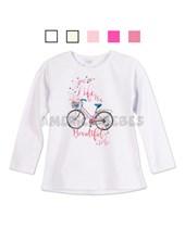 3909dfdf5 Remera niña con estampa bicicleta y brillo. Colores surtidos. Ruabel.