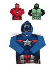 Remera nene capucha con mascara Avengers. Disney Licencia.