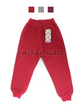 Pantalon  nena Friza c/puño. Colores surtidos. Gruny.