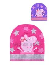 Gorro tejido con lurex y aplique sublimado Peppa Pig. Colores surtidos. Disney Licencia.