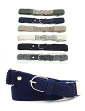 Cinturón elástico liso  Regulable baston. Puntera de cuero. Colores surtidos. Cintos Mac Fly.