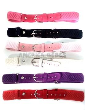 Cinturon regulable con strass puntitos Colores surtidos.
