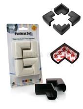 Protectores x4 unidades  de goma suave y acolchonada para cubrir las puntas de mesas, mesadas y muebles. Con adhesivo 3M. Baby Innovation.