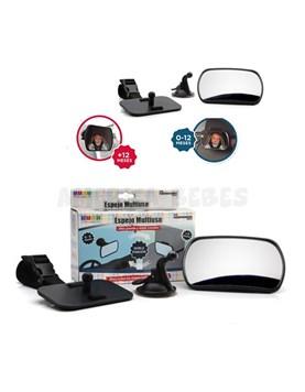 Espejo Multifunción para auto. Doble aplicación: para fijarlo al vidrio delantero o sobre el apoya-cabeza trasero. Baby Innovation.