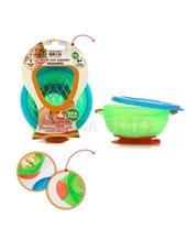 Bowl Sopapa CHICO con tapa y sopapa segura. Asas. Colores surtidos. Baby Innovation.