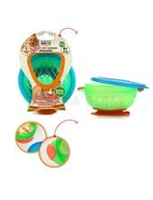 Bowl Sopapa CHICO con tapa y sopapa segura. Asas. Baby Innovation.