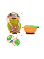 Bowl Sopapa GRANDE tapa y sopapa segura. Asas. Colores surtidos. Baby Innovation.